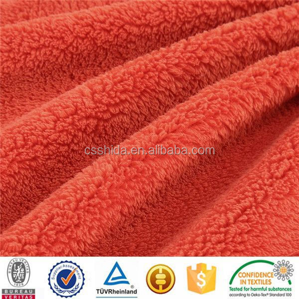 new design 2012 coral fleece fabric/100% polyester/double faced shu fleece