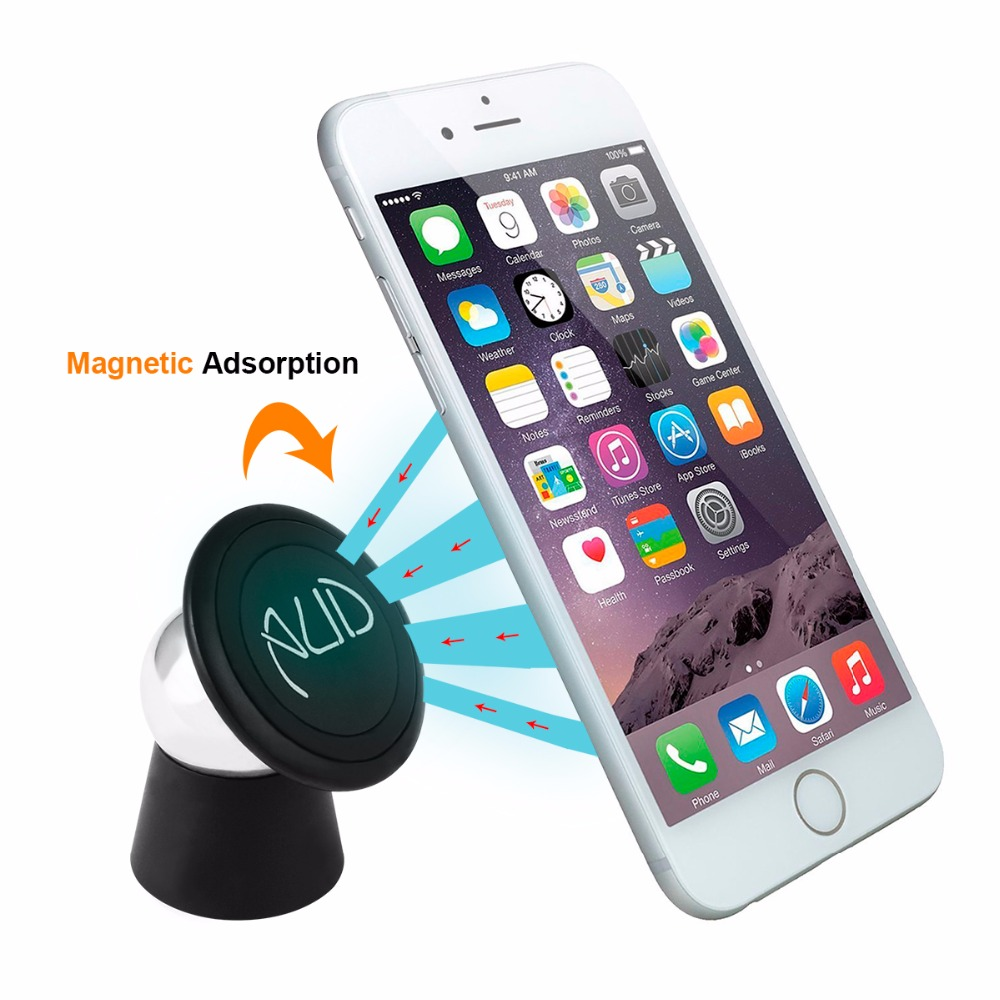 360 degrees rotating AUD metal magnetic mobile car phone holder