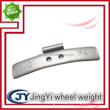 Fe spraying clip-on wheel balance weight/steel clips wheel weight