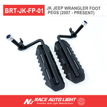 N2 RACE AUTO factory wholesale Durable Black Iron Foot Pegs pedal plate fits for Jeep Wrangler JK Rubicon Sahara