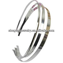 Stainless Headband 6MM Metal Silver DIY Hairband