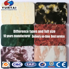 different types cheap facade wall panel stone marble aluminum plastic composite panel
