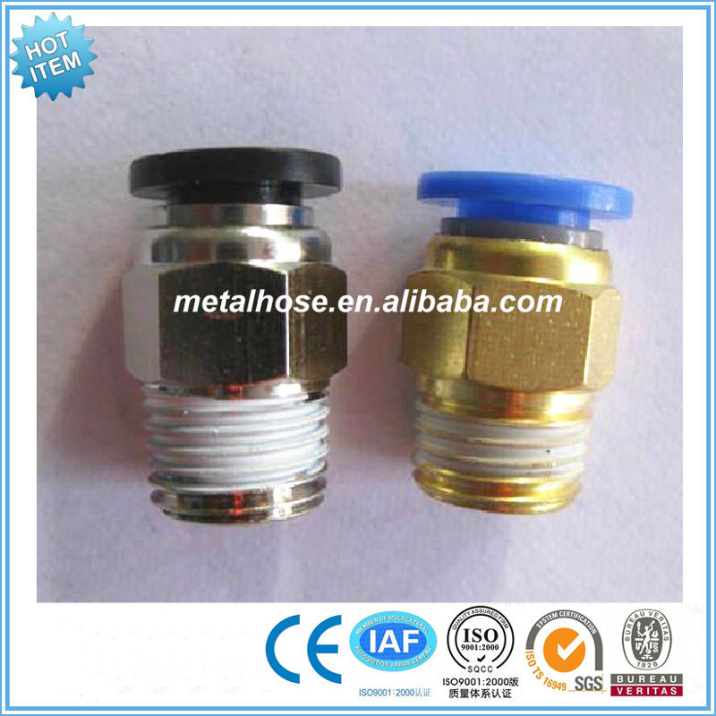 Hexagon air hose connector/pneumatic fittings/PC male threaded straight