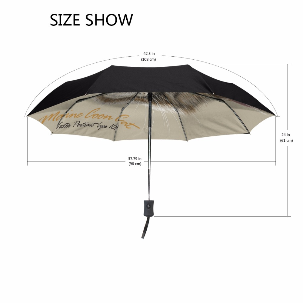 Maine Coon Cat Umbrella Plum Rain Women Folding Umbrellas Anti Uv Solenoid Valve 2 Sandwich Mounting Ng6 Circuit B Ev082xsfc3b Fully Automatic Lovely Sun Us298