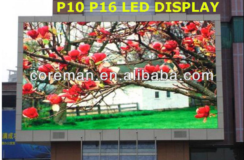 P10 Advertising Outdoor High Brightness Led Display/ P16 P10 outdoor advertising led cinema display