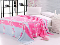 2015 new design rich tree king size comfortable and anti-pilling flannel fleece blanket bed sheet set