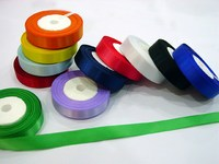 Polyester Satin Ribbon, Single/Double Face, with different colors