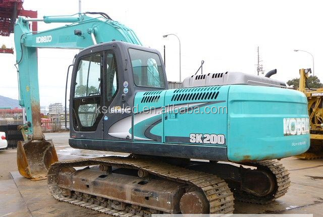 used Japanese crawler excavator Kobelco excavator SK200 good condition for hot sale in shang hai