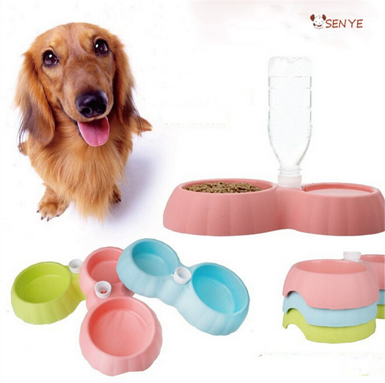 ABS Plastic Pet Dog Bowl Automatic Drinking Feeser Dog Bowl LOGO Eco Resin Double Pet Dog Bowl