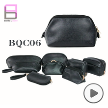 Bearky Bag Manufactory supply custom plain classic black cosmetic bag