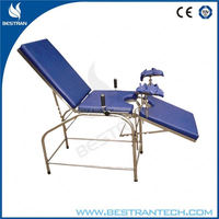 BT-OE017B China manufacturer ISO CE medical portable stainless steel 304 portable gynecology exam table