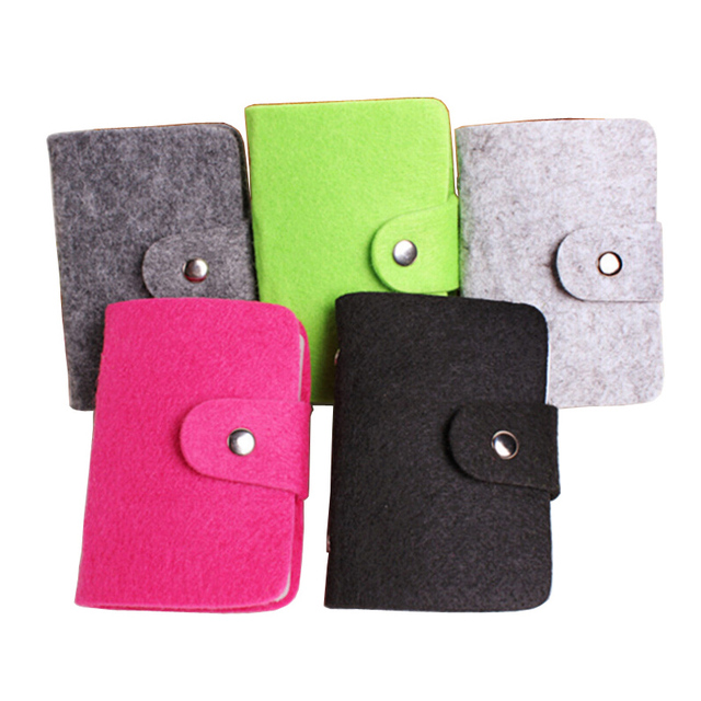 Hot Sale Fashion 24 Bits Cards Holders Quality Suede Business Porte Carte Credit Card Holder Organizer Manager For Women and Men