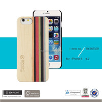 Factory Direct Price Wholesale Mix Colored Wood Custom Hard Back Ivory Wooden Cell Phone Cover for iPhone 6, for iPhone 6s Case