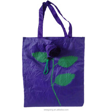 WG068 Reusable 190T promo polyester nylon folded shopper bags
