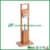 Wholesale Bamboo Rolling Paper Holder with Toilet Brush Holder