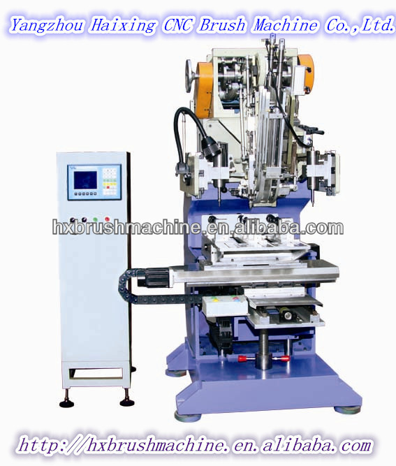High Speed Flat Wire 3 Axis Pet Brush Making Machine (drilling and tufting)