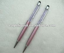 metal material pink color screen touch diamond pens
