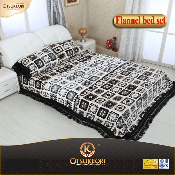 High class beautiful packing New design good quality flannel blankets cheap price in China