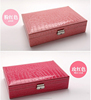 Vintage jewelry box with pu leather insert for ring earring packaging gift box