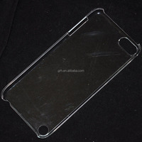transparent hard plastic back case for ipod touch 5