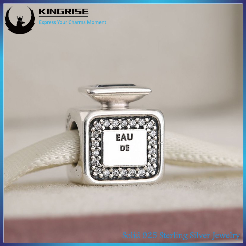 Authentic European Charms of Original 925 Sterling Silver Signature Scent Perfume Bottle bracelet Beads CZ For fashionJewelry