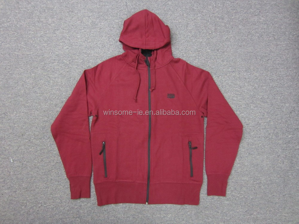 Factory price high quality stylish Mens 80% Cotton 20% Polyester brushed back sweat hoodie