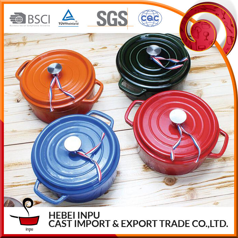Colorful Wholesale Cast Iron Clay Cooking Hot Pot for induction