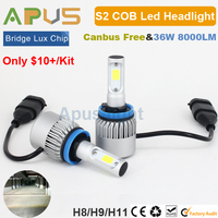 Cost Effective cob led light 4000lm S2 H8 H9 H11