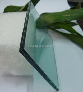 6.38mm 10.38mm milky white PVB film laminated glass price