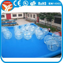 2015 TPU inflatable water ball/soccer bubble/ bubble ball for football