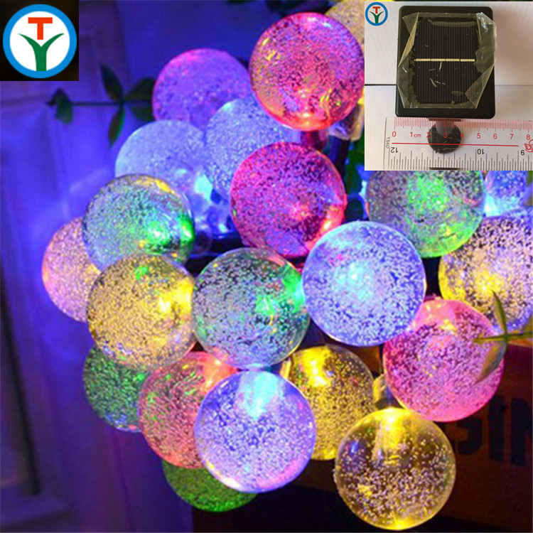 G23 Globe Outdoor Solar String Lights 30 LED Fairy Crystal Ball Holiday Party Decoration Lights chrismas lights