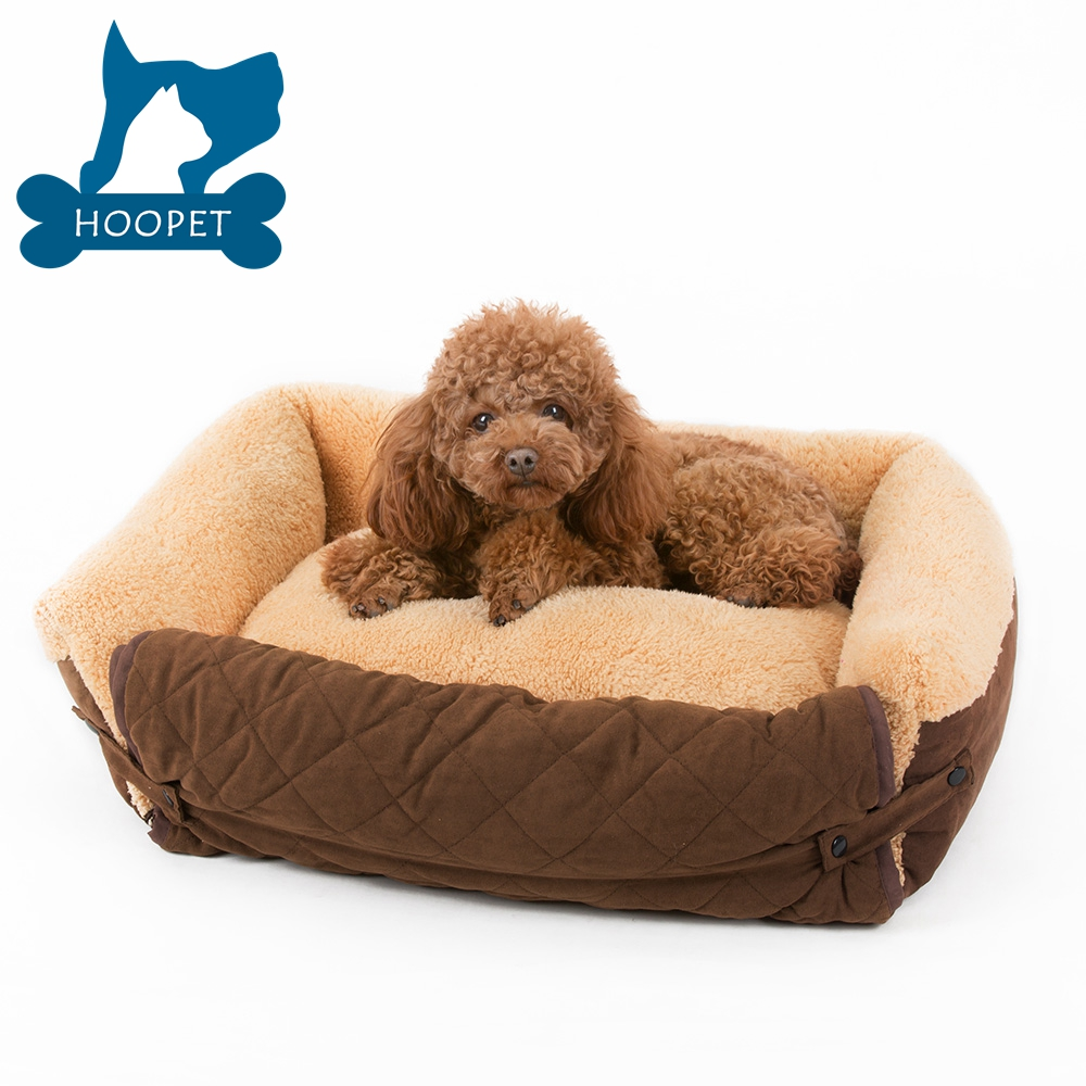 Brown Suede Detachable Sofa Shaped Pet Bed Multi Function Dog Bed