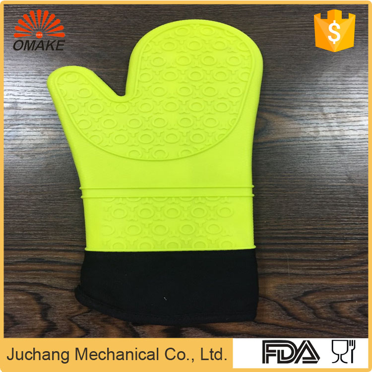 FDA Certified Custom Embossed best pot holders cheap oven mitts cooking mittens with High Quality