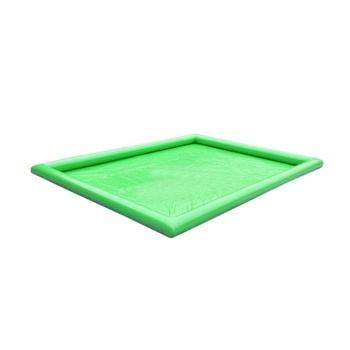 Factory Wholesale All Size Green Inflatable Swimming Pools 0.9mm PVC Inflatable Rectangular Water Pool For Water Park