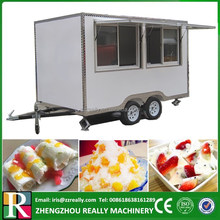 4m width big window boiler & hot plate equipped food warmer cart
