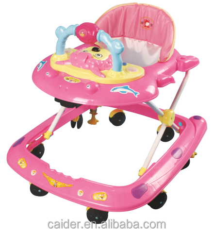 Factory wholesale inflatable baby doll walker, 360 degree rotating new model round outdoor baby walker with toys