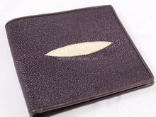 GENUINE SUPER GRADE BROWN FREE SHIPPING river stingray wallet