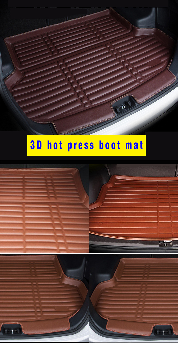 2017 Amazon hot sale product 3d unique easy clean car trunk mat rav4 pvc with good after service