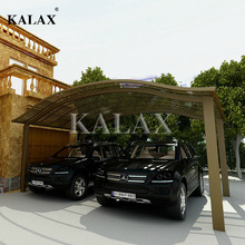 High quality car parking shelters aluminum carport canopy for sun shading