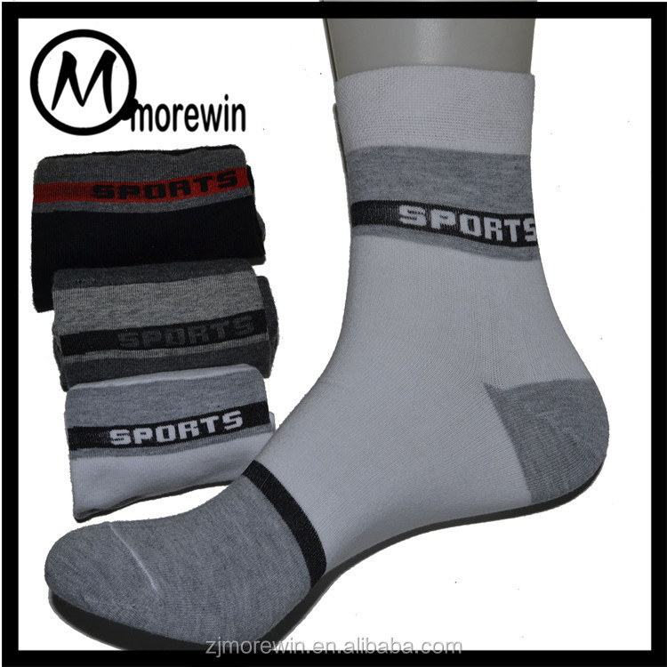 Morewin Factory Sock Custom Antibacterial 100% Cotton Sock Good Quality Sport Man Sock Manufacturer