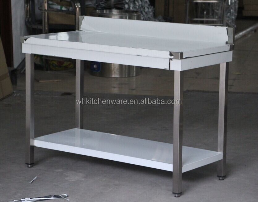 2-tier kitchen stainless steel assembly line working tables