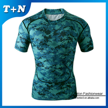 custom sublimation pattern print mens sports fitness t shirt