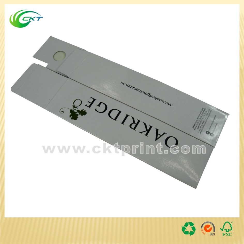 Customized Printing Auto-lock Bottom Paper Wine Box with Glossy Lamination