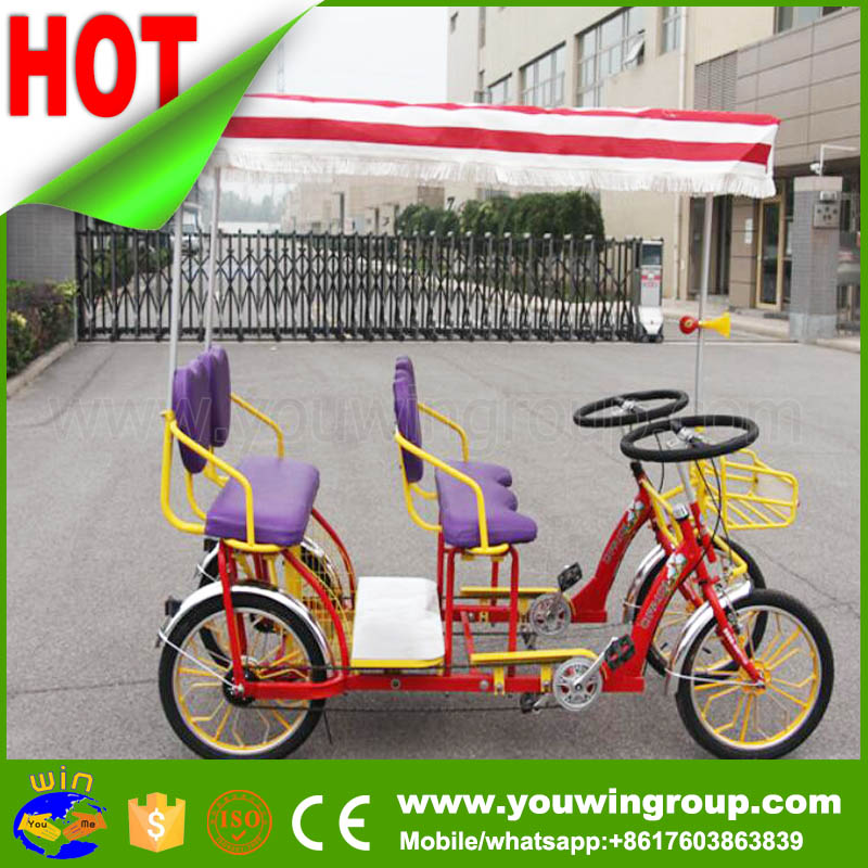 China pedal car 4 person, pedal cars tricycles, pedal cars for adults