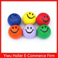 2015 hot selling smiley face PU foam stress ball