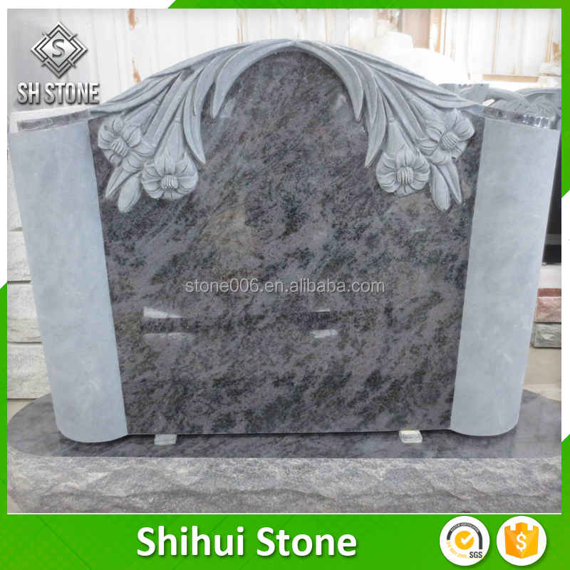 Wholesale European Design Natural White Or Black Granite Monuments