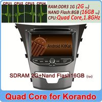 Ownice C200 Quad Core Pure Android 4.4 Cortex A9 for ssangyong korando 2014 car radio 2G Ram+16GB Flash