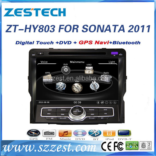 ZESTECH digital touch screen car radio dvd gps navigation tv bluetooth double din dvd player for hyundai sonata