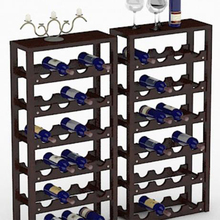 Hot sales OEM and ODE accepted paulownia wood wine rack