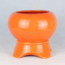 colorful dolomite ceramic mini flower pot H061